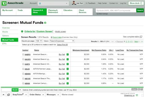 td comfort mutual funds best online stock trading program forex center