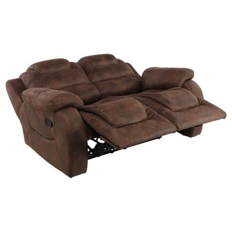 small reclining sofas buy lisbon small 2 seater fabric recliner sofa dark brown