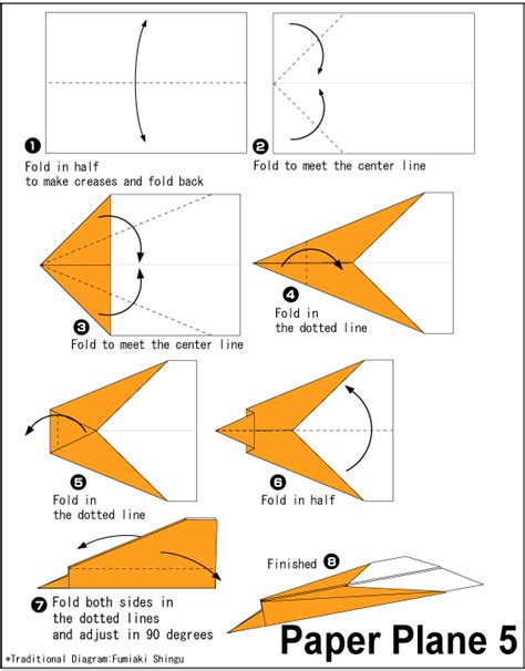 How To Fold Paper Airplanes Step By Step - easy origami origami paper plane 5 origami