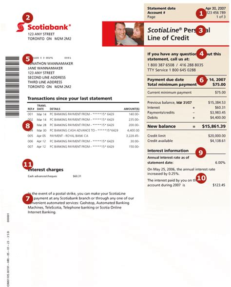 Bank Of Scotia Letter Of Credit Scotiabank Credit Statement Guides