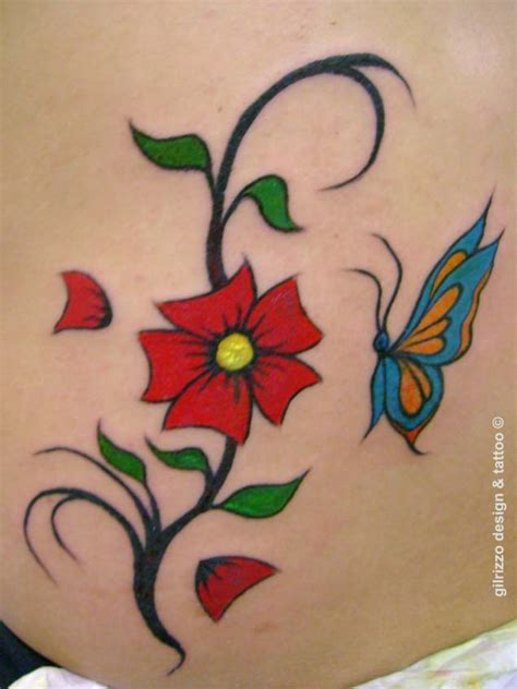 girly flower tattoo designs painting and small feminine ideas