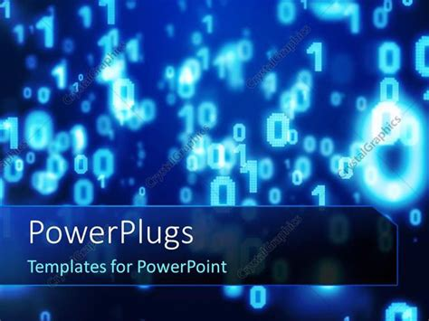 powerpoint templates numbers free powerpoint template glowing blue numbers on dark