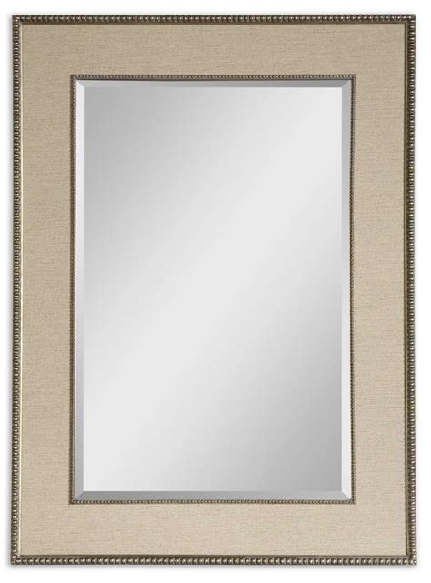 beaded frame mirror this generous scaled beveled mirror uttermost marilla beaded silver mirror 14463