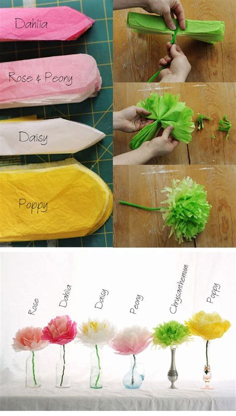 What Can I Make With Tissue Paper - best 25 tissue paper flowers ideas on paper