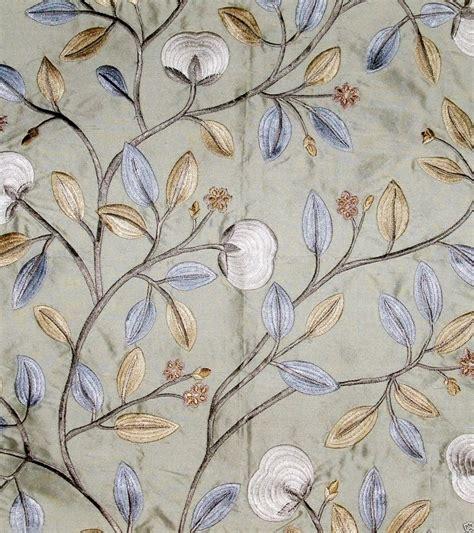 embroidered silk drapery fabric lee jofa kravet floral embroidered silk fabric aqua blue