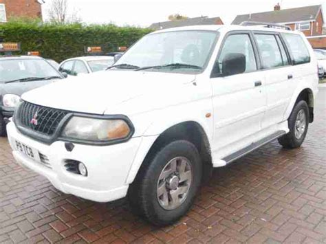 mitsubishi car white mitsubishi 2000 shogun sport gls v6 auto white car for sale