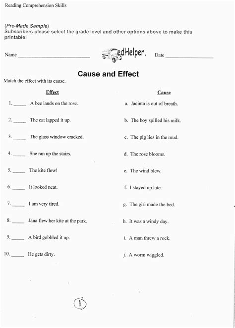 Cause And Effect Worksheets 2nd Grade by 18 Best Images Of Cause Effect Worksheets Grade 3 Cause