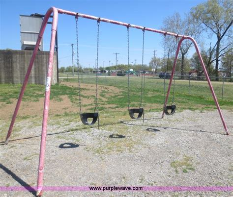 2 person swing set playground equipment no reserve auction on tuesday june