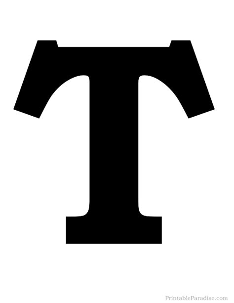 Printable Letters Solid | printable solid black letter t silhouette harfler