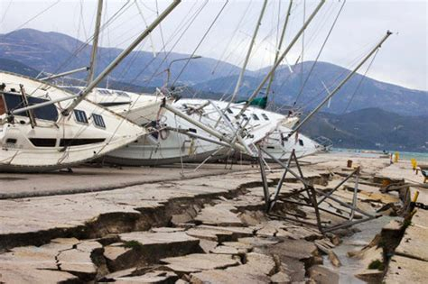 earthquake greece yachts and quay damaged in greek earthquakes practical
