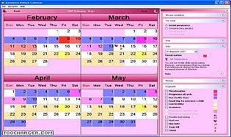Contraception Naturelle Calendrier T 233 L 233 Charger Advanced Calendar