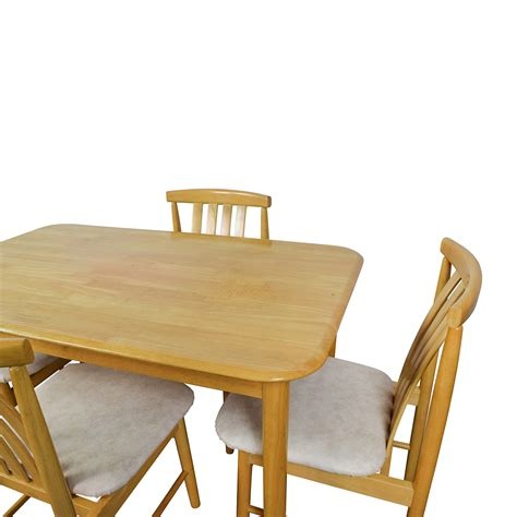 Light Wood Dining Tables 71 Light Wood Dining Table With Four Chairs Tables
