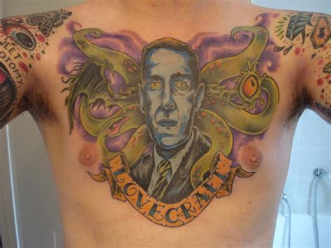 lovecraft tattoo tuesday h p lovecraft cthulhu