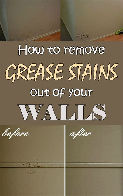 how to remove grease stains from kitchen cabinets the
