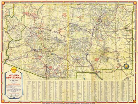road map of arizona and new mexico map 291 shell road map of arizona and new mexico