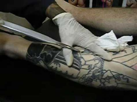 japanese tattoo healing method tebori style tattooing youtube