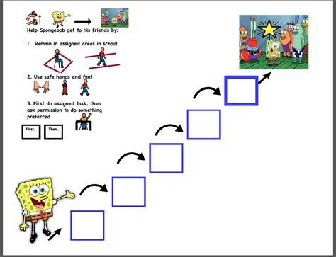 token reward system template spongebob squarepants token economy board charts