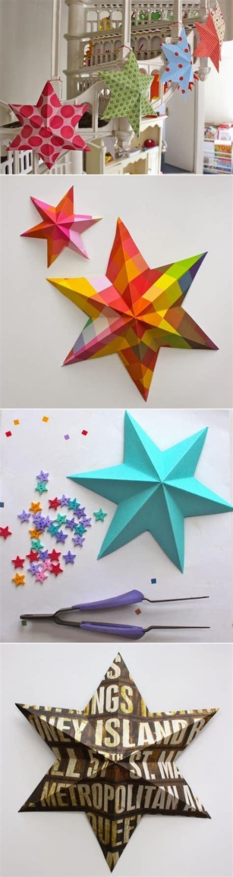 wonderful diy easy 3d paper star decoration wonderful diy 3d paper lucky star