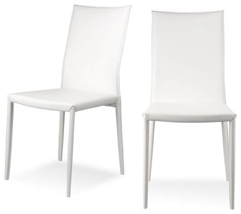 Skirted Chairs Lucy White Dining Room Chair Set Modern Dining Chairs