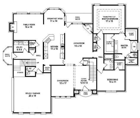 4 bedroom and 3 bathroom house 654258 4 bedroom 3 5 bath house plan house plans