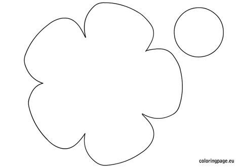 big flower template printable 8 best images of printable big flower printable