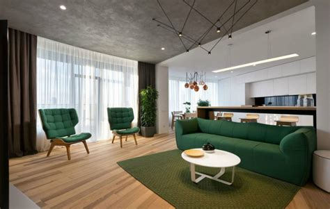 living room shows minimal apartment in kiev has a lot to show
