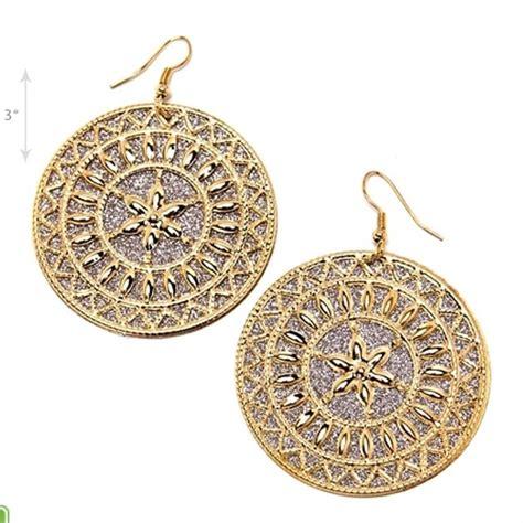 tribal pattern earrings 99 off jewelry aztec tribal pattern coin drop earrings