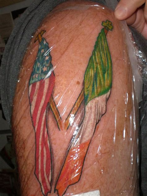 irish american tattoos 34 amazing flag tattoos