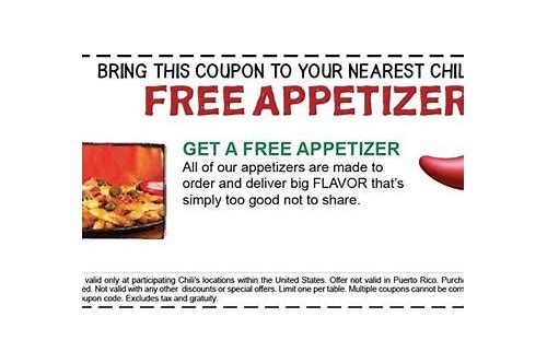 chili's appetizer coupons 2018