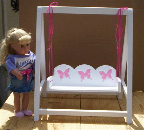 american doll house furniture doll swing doll furniture handcrafted for american girl 18 inch doll