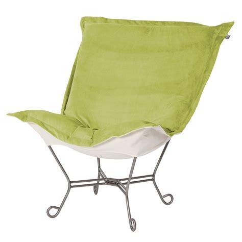 chicago textile puff chair mojo kiwi