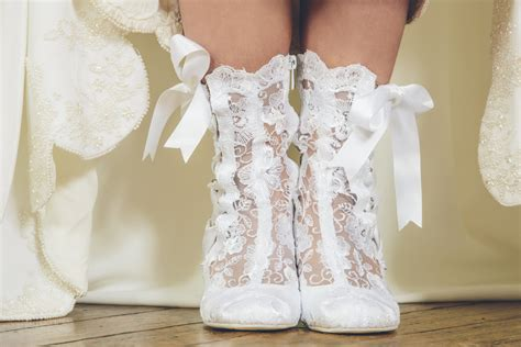 Stiefel Hochzeit by Vintage Lace Ankle Wedding Boots House Of Elliot