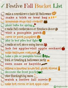 festive fall bucket list free printable simply notable