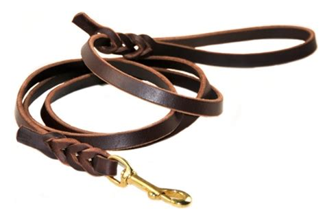 Handmade Leather Collars And Leashes - nocturne premium handmade leather leash with braided