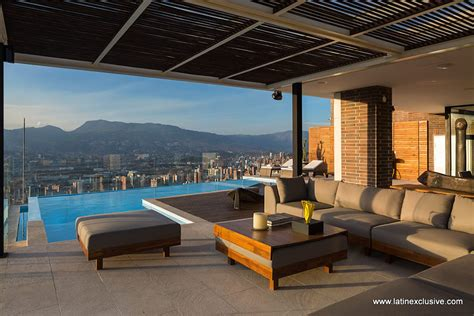 penthouse con penthouse with heated pool for sale in el poblado