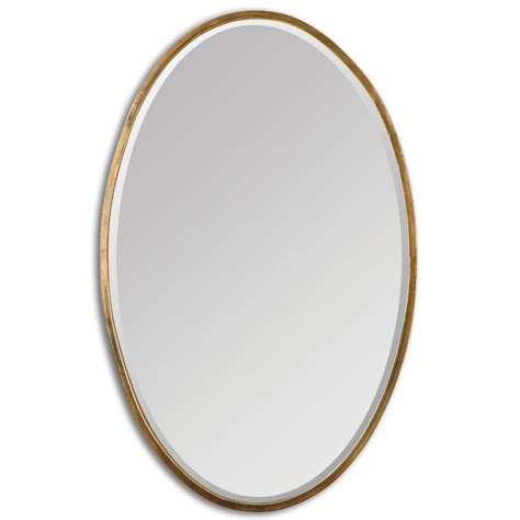 gold bathroom mirror uttermost 12894 herleva gold oval mirror districtdecor