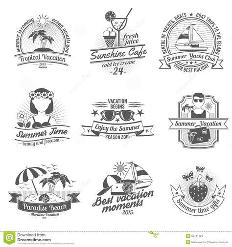 imagenes de verano blanco y negro insieme di etichette bianco nero di estate illustrazione