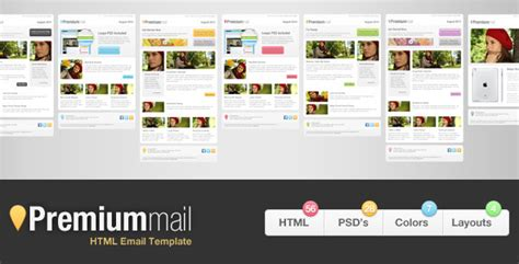 Premiummail Email Template By Reymarval Themeforest Themeforest Html Email Template