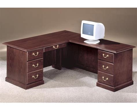 desk traditional 72 x 84 executive l desk right