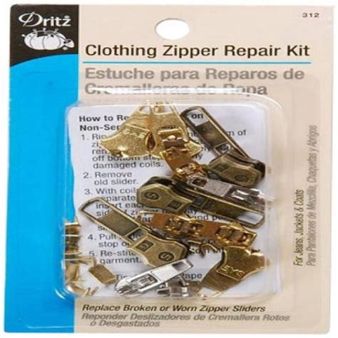 Fix A Zipper Replacement Repair Kit 6 In 1 Resleting Fix dritz zipper repair kit clothing walmart