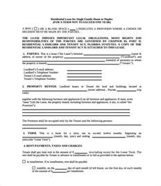 rental property contract template sle property lease agreement template 8 documents in pdf