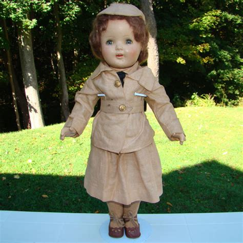 composition army doll 1940s waac composition doll world war ii in complete army
