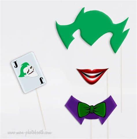 printable photo booth props batman kit super h 233 ros photobooth accessoires 3 joker batman