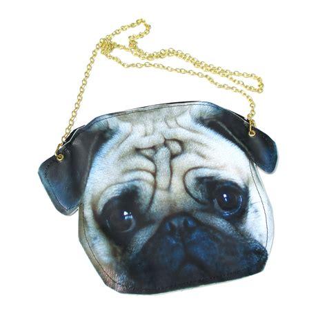 pug shaped realistic pug puppy shaped vinyl animal photo print cross shoulder bag