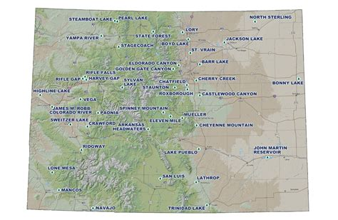 map of national parks in colorado fee hikes planned at colorado state parks summit county