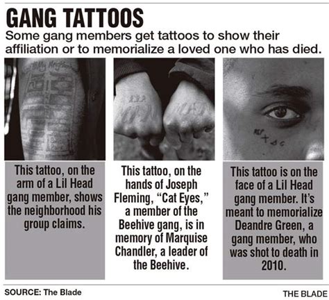 tattoos honor gangs the fallen and the hustle the blade