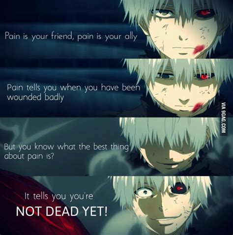 anime quotes about pain kaneki tokyo ghoul quotes quotesgram
