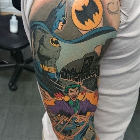 batman comic tattoo sleeve 29 best tattoos for women batman theme images on pinterest