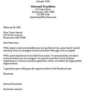Cover Letter Spontaneous Application by Sle Cover Letters Recruiters