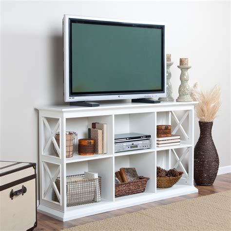 tv console table belham living hton console tv stand white at hayneedle